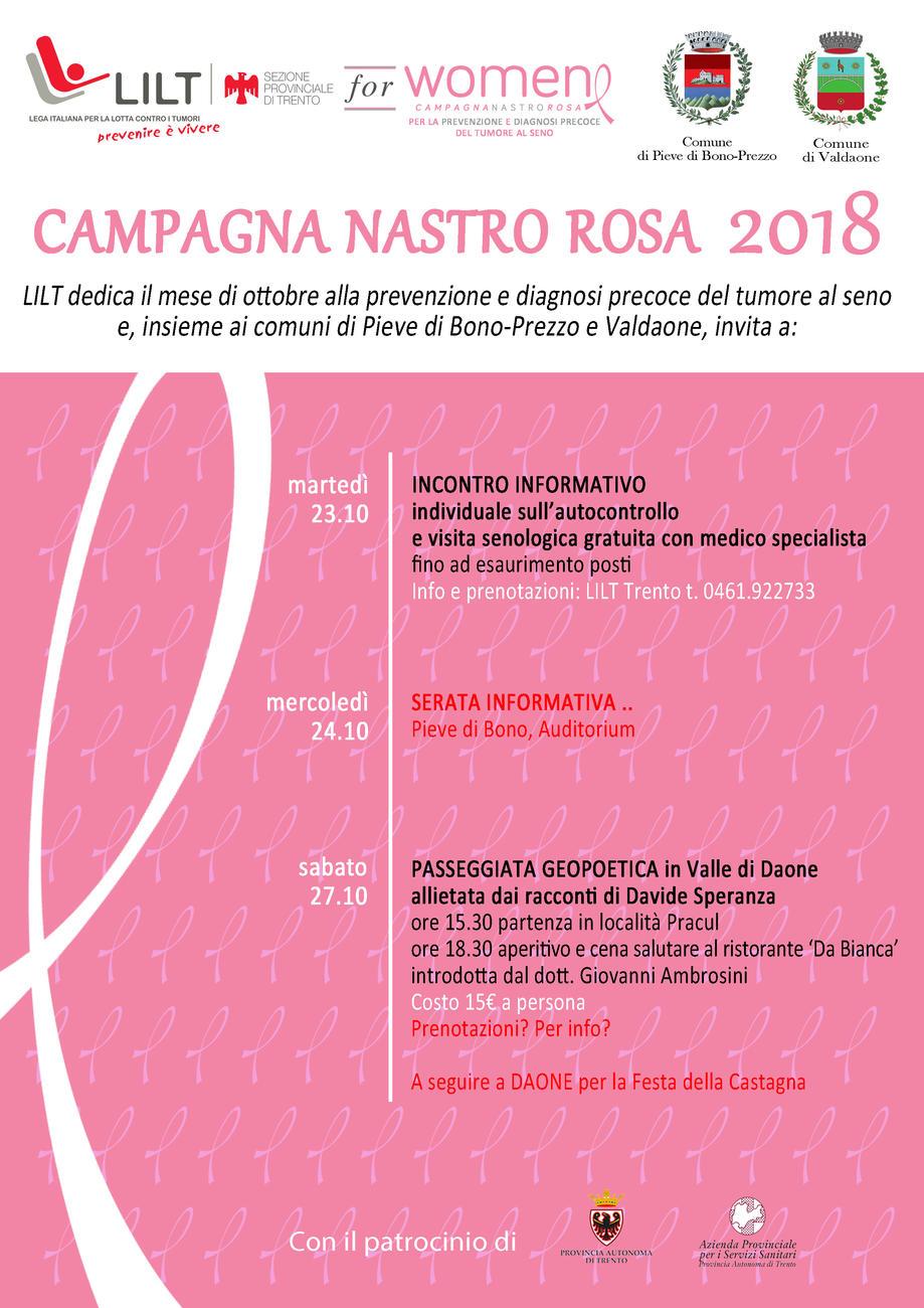 Campagna nastro rosa 2018